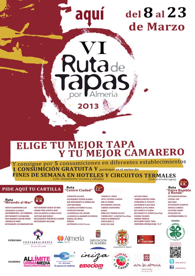 Cartel VI Ruta de Tapas por Almería